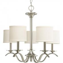 progress p463509 5lt brushed nickel chandelier